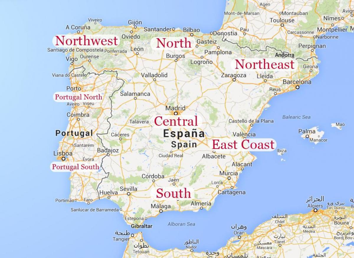 Carte Espagne Nord Est.Carte Du Nord Est De L Espagne Carte Du Nord Est De L Espagne De